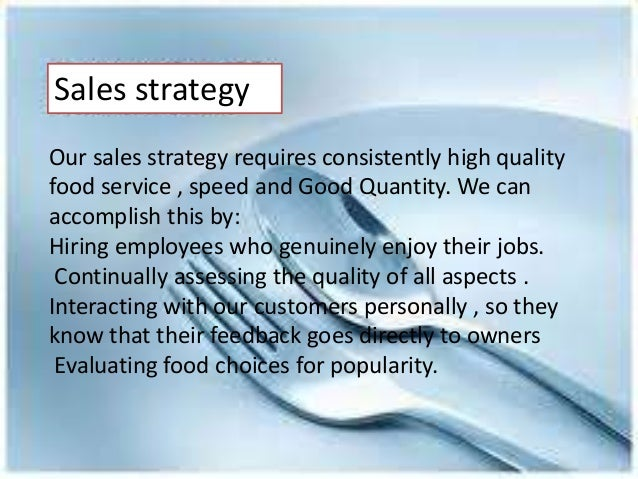 Marketing strategies of restaurant for Sales marketing tactics