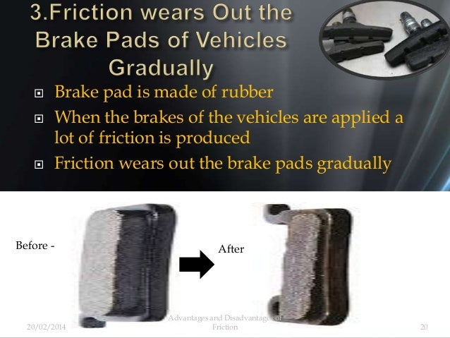  Brake pad is made of rubber  When the brakes of the vehicles are applied a lot of friction is produced  Friction wears...