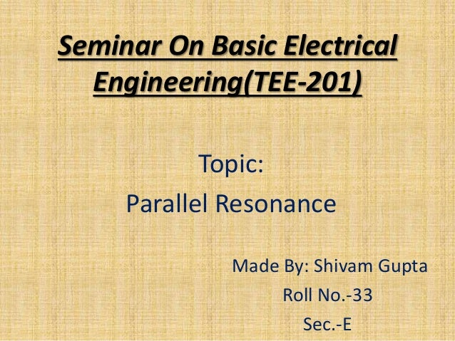 Resonance in parallel rlc circuit