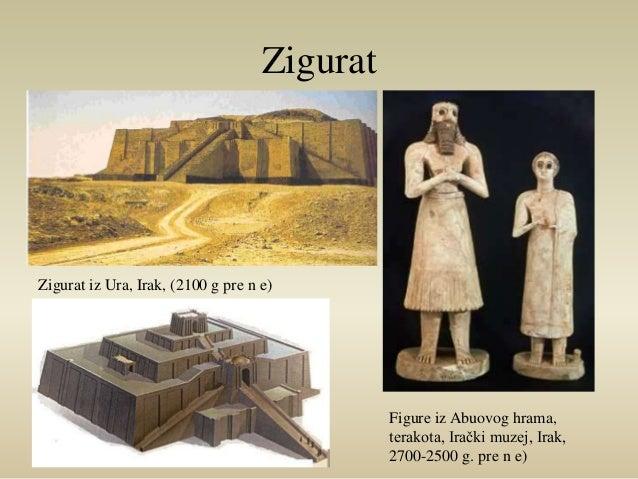 Zigurat  Figure iz Abuovog hrama,  terakota, Irački muzej, Irak,  2700-2500 g. pre n e)  Zigurat iz Ura, Irak, (2100 g pre...