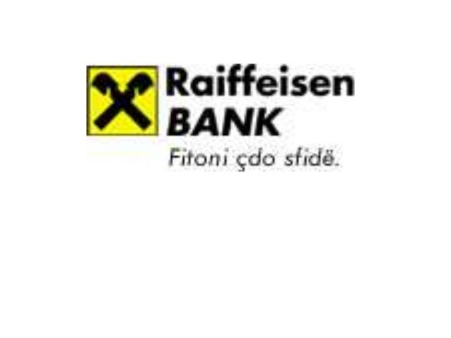 Misioni Raiffeisen Bank Sh.a., anetare e Raiffesien Bank International, ka misionin e meposhtem: Misioni yne eshte te nder...