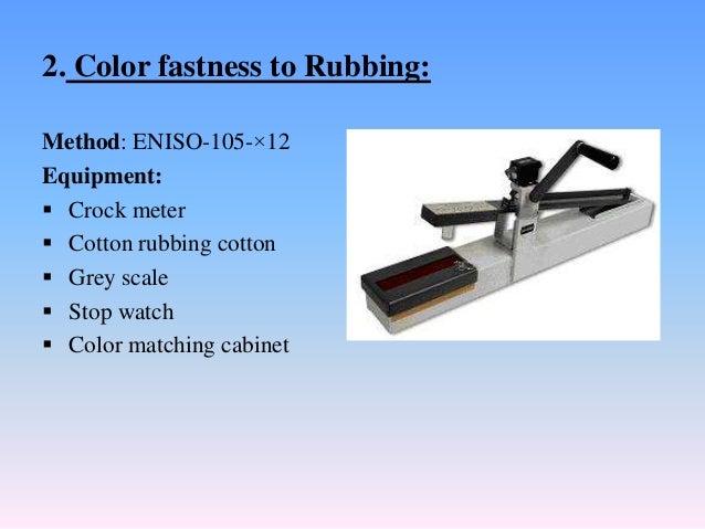 COLOR FASTNESS TO RUBBING EPUB
