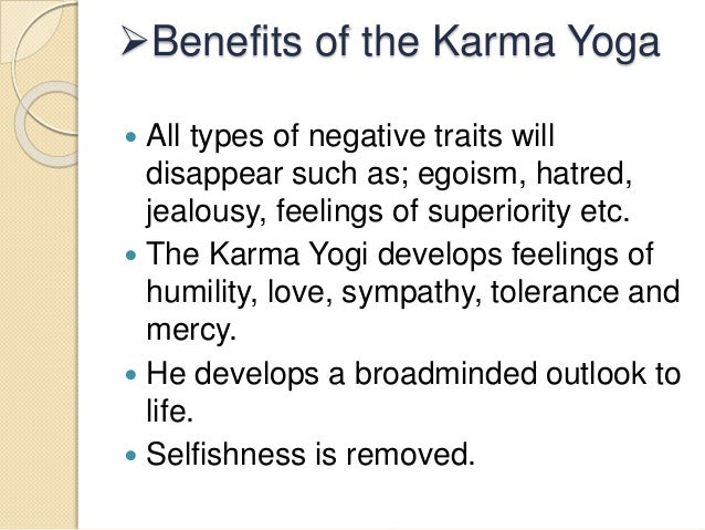 8 Benefits Of The Karma Yoga