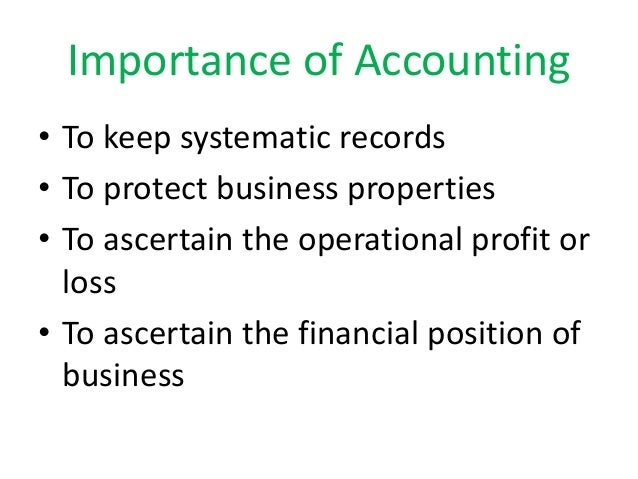 the importance of good accounting in Today, accounting becomes one of the top jobs in america in the '50s, and '60s, the common wisdom said that if a student had no personality he should consider a career in accounting(siegel, gary) compared to lawyers and doctors, accounting did not require too much reading, writing and communication skills.