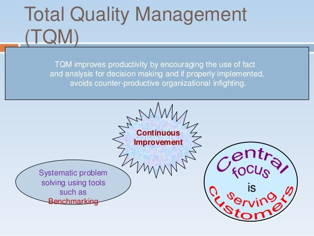 an analysis of the problem of tqm in an accounting environment Tackling problem law  customers by adapting to changing environment management accounting must provide information that  analysis, tqm and other.