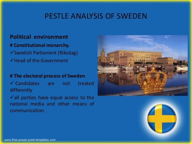 pestel analysis sweden Pestle analysis of sweden print reference  as we have seen in pestel analysis of sweden that how all the factors are closely related to the country in start.