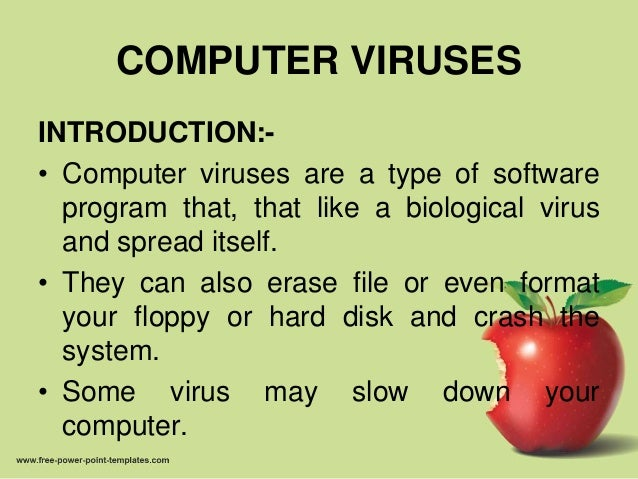computer viruses power point presentation Infections from viruses, spyware, or  detects and removes viruses and spyware from your computer computer and internet security presentationpptx.