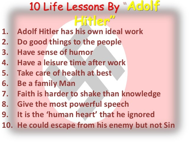 an analysis of the traits of adolf hitler Adolf hitler (20 april 1889 -30 april 1945) was an austrian-born german politician and the leader of the nazi party hitler was chancellor of germany from 1933 to.