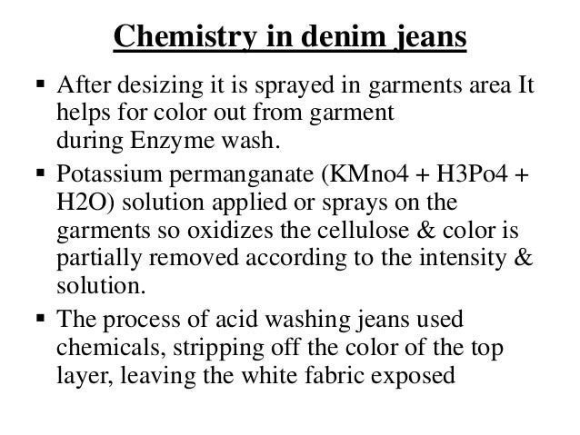 Use 0f Potassium Permanganate On Denim Jeans