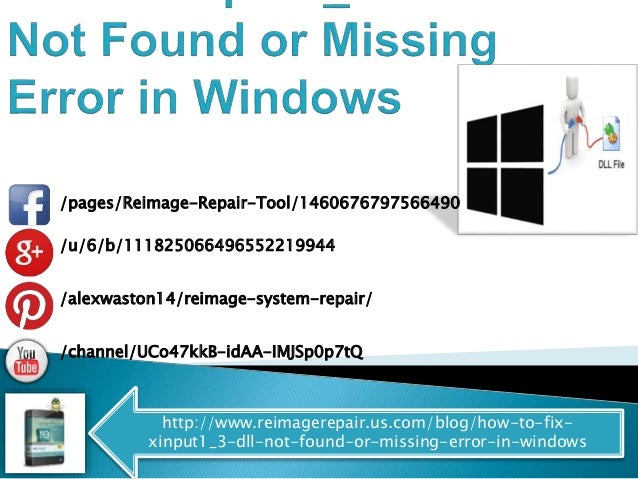 solve xinput1 3 dll not found or missing error in windows