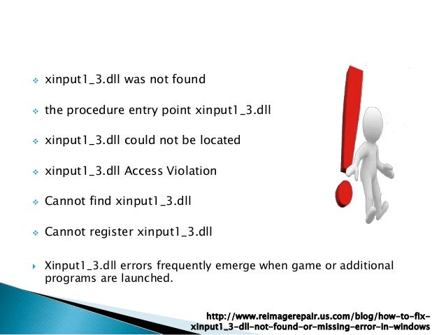 Solve Xinput1_3 dll Not Found or Missing Error in Windows