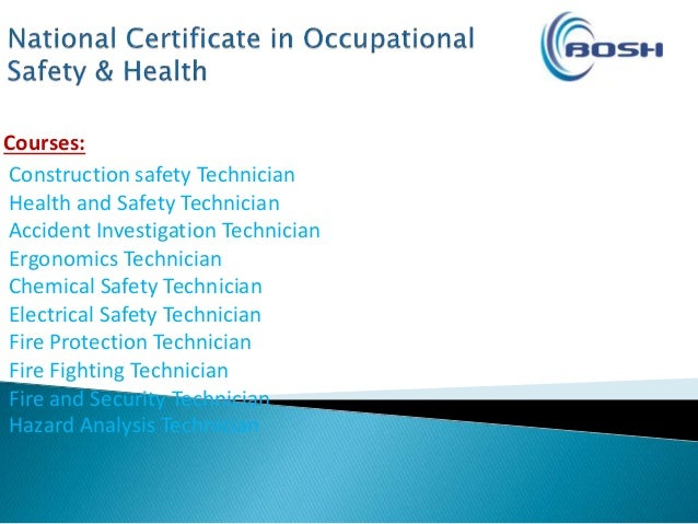 occupational health and safety technicians