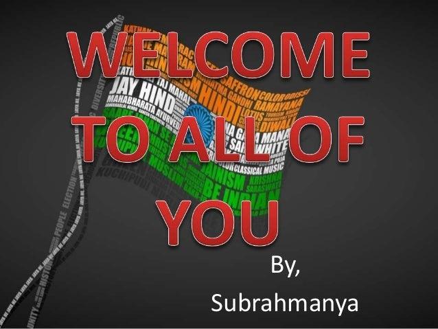 By, Subrahmanya
