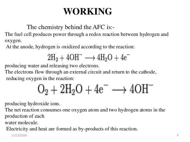 Propane Fuel Cell Reaction
