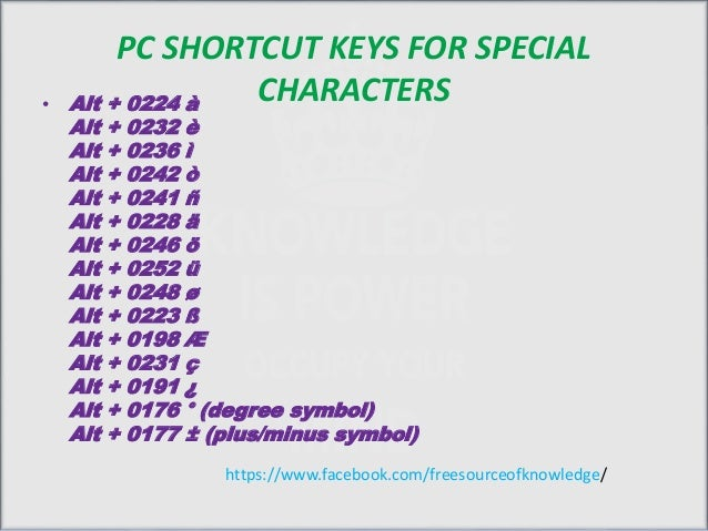 Shortcut Keys Discriptions For Windows