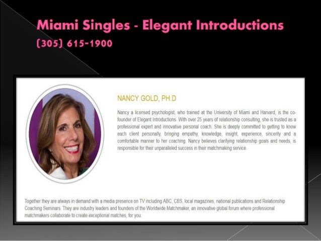 Dating services for professionals