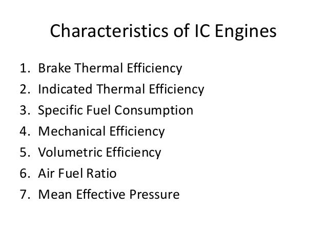 Testing And Performance Of Ic Engine