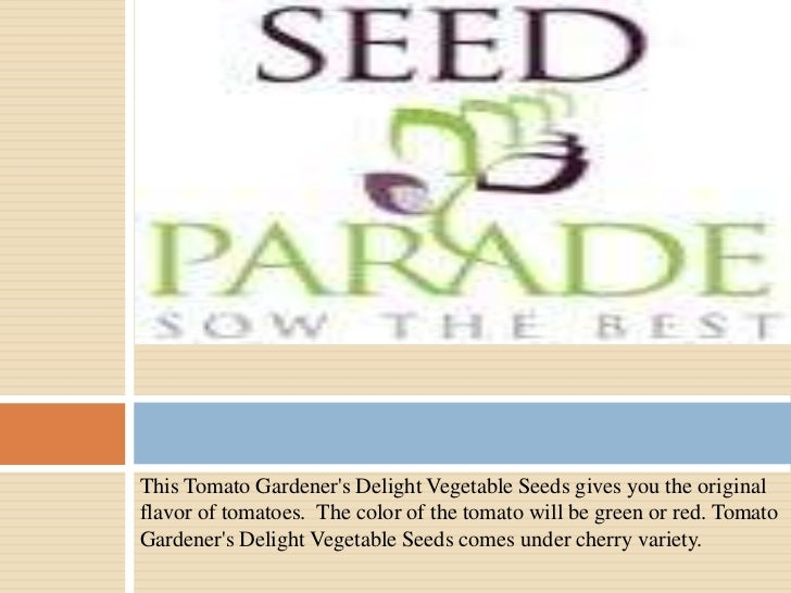 This Tomato Gardeners Delight Vegetable Seeds gives you the originalflavor of tomatoes. The color of the tomato will be gr...