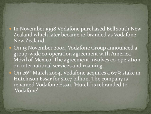 vodafone and hutch merger impact Synopsis roll no 09bal102 critical analysis of vodafone-hutch merger case project for the subject of mergers and acquisition impact of the sprint nextel merger.