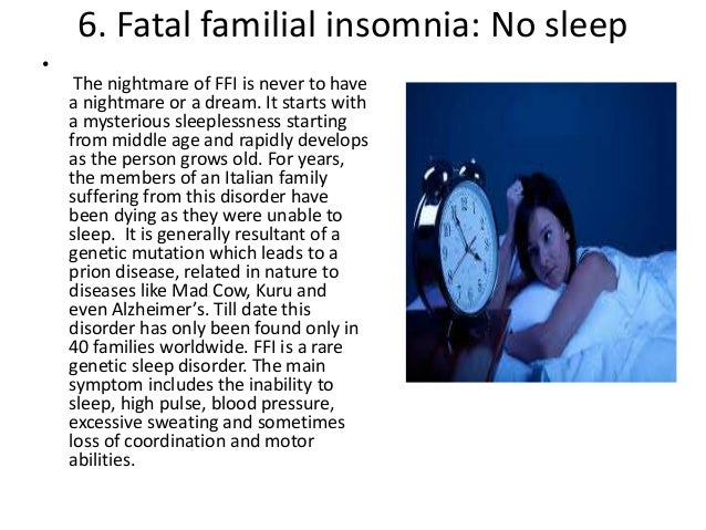 Fatal Familial Insomnia: All You Need To Know