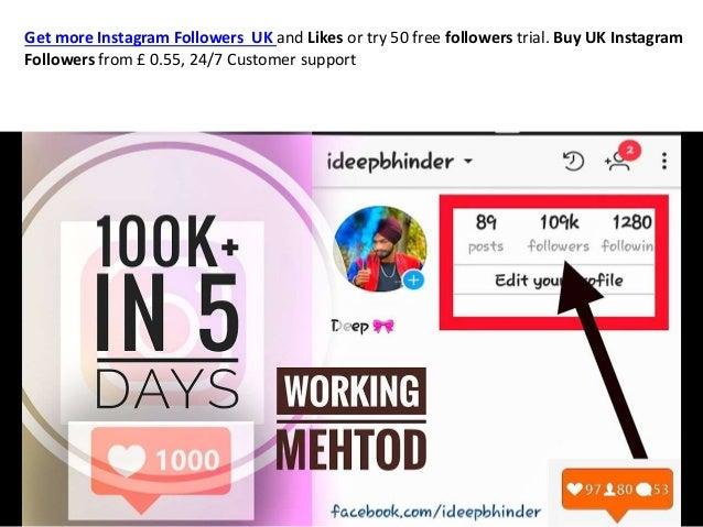 Buy Instagram Followers UK, Get free Likes on Instagram from