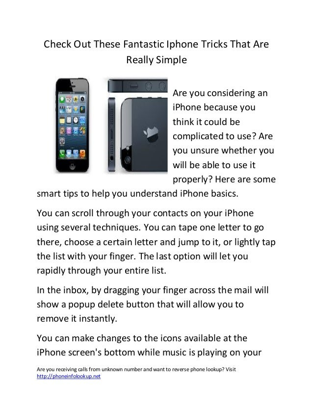 Check Out These Fantastic Iphone Tricks That Are                   Really Simple                                Are you co...
