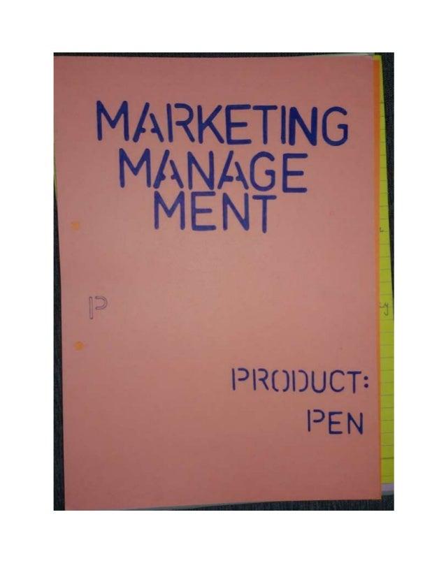 Marketing Project on Pen
