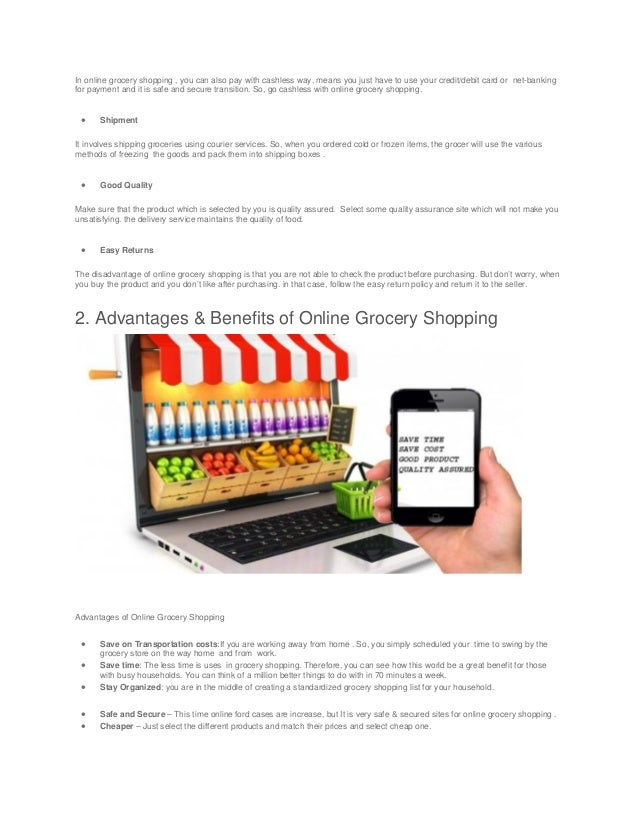 reasons for online grocery shopping