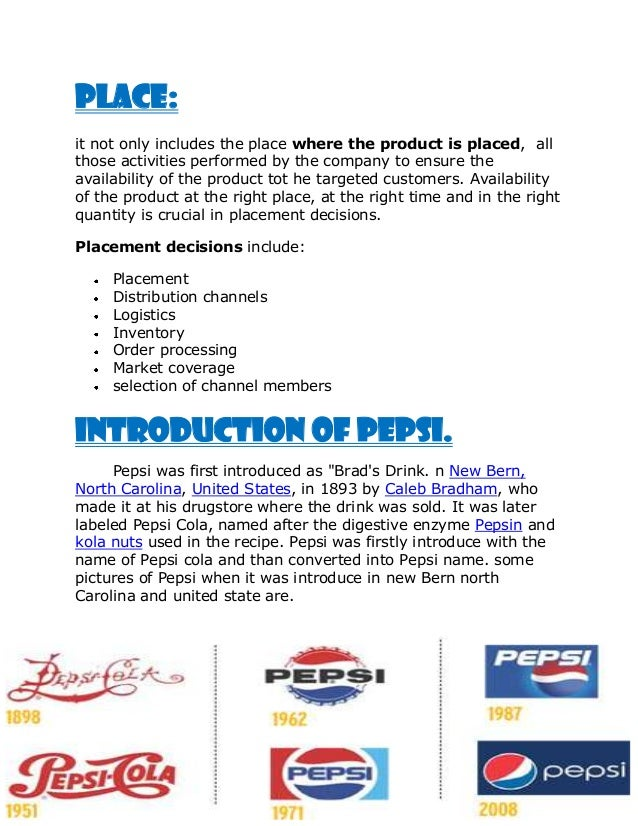pepsi personal selling of pepsi Pepsi's sleazy bid to sell soda an insult to everyone  he obtained the personal cellphone numbers of school leaders and was taken on.