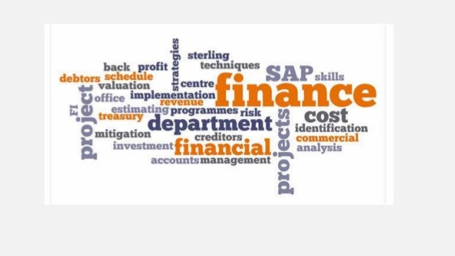 Finance Management of large amount of money Ensures adequate cash flow Allocation of assets and liabilities