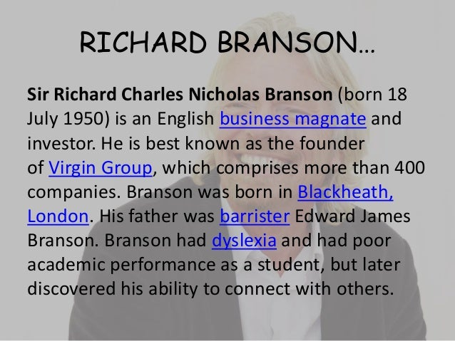 RICHARD BRANSON VIRGIN MOBILE LIFE QUOTES COMPANIES AND