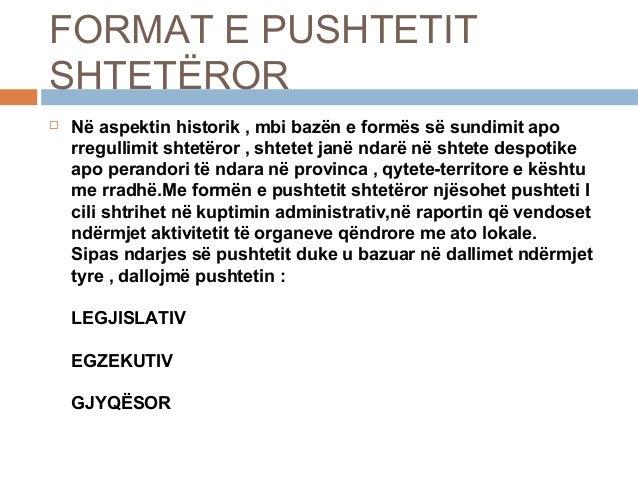 """PUNIM SEMINARIK - TEMA : """"TRAJTAT E PUSHTETIT SHTETËROR"""" Slide 2"""