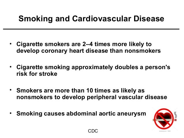 cause and effect of smoking cigarettes