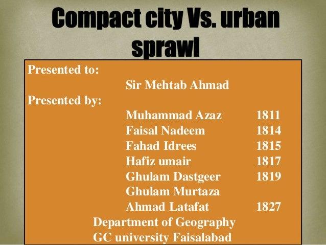 compact cities vs. urban sprawl Slide 2