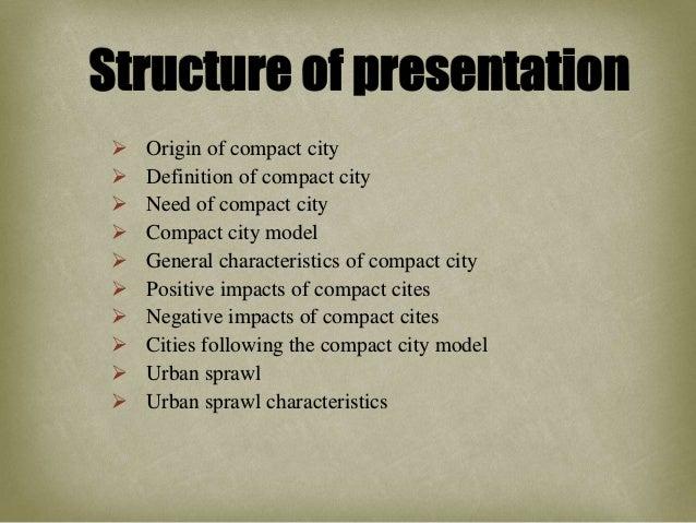 compact cities vs. urban sprawl Slide 3