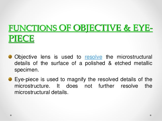 objective details