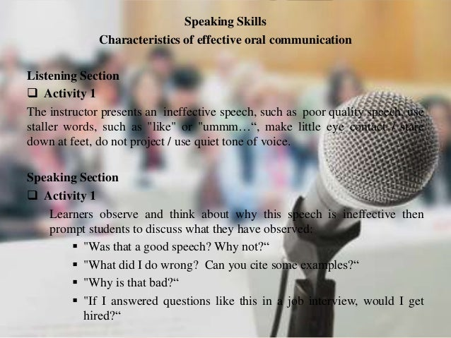 the characteristics of an effective speaker P astors today are asking, what are the qualities of a 'real preacher' actually the question should be 'what are the qualities of an effective preacher'so let me share with you today, the.