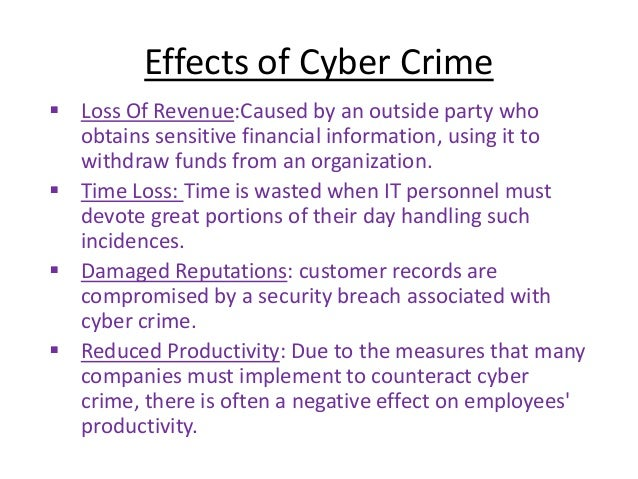 the negative effects of computer crime on business