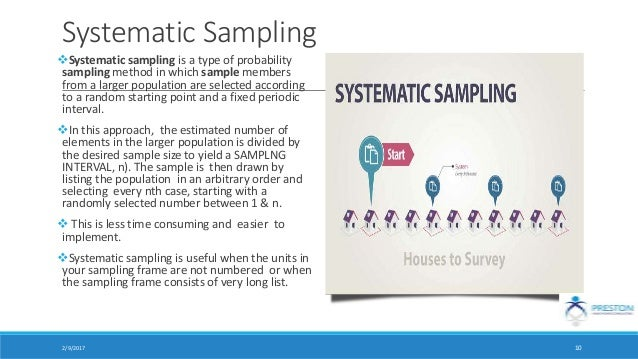 how to use systematic sampling