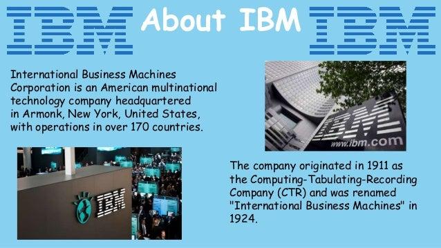 IBM Slide 2