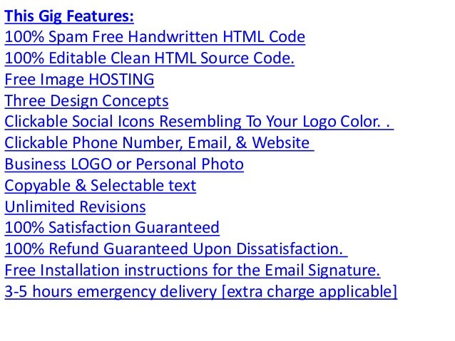 how to create clickable email signatures