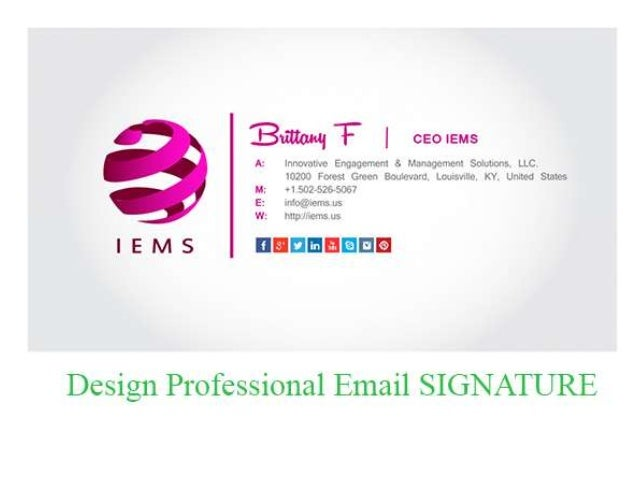 Email signature design yelomphonecompany email signature design accmission Image collections