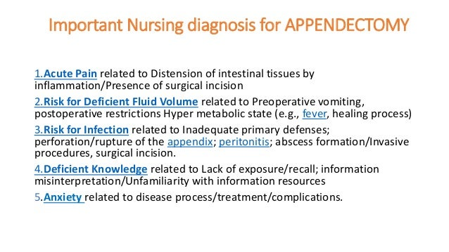 Important Nursing diagnosis