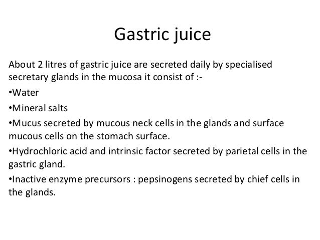 enzymes found in gastric juice