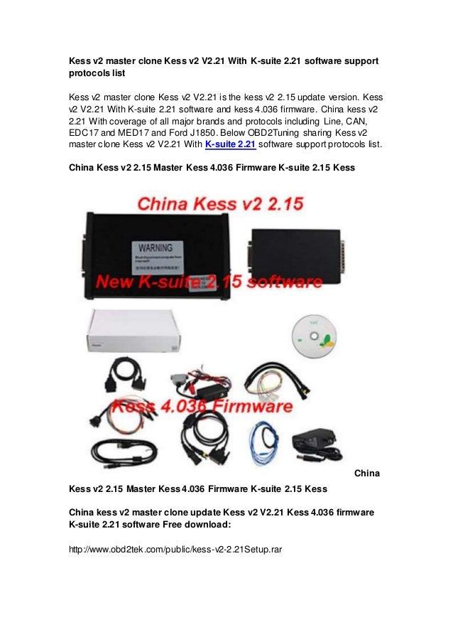 Kess v2 master clone Kess v2 V2 21 With K-suite 2 21 software support…