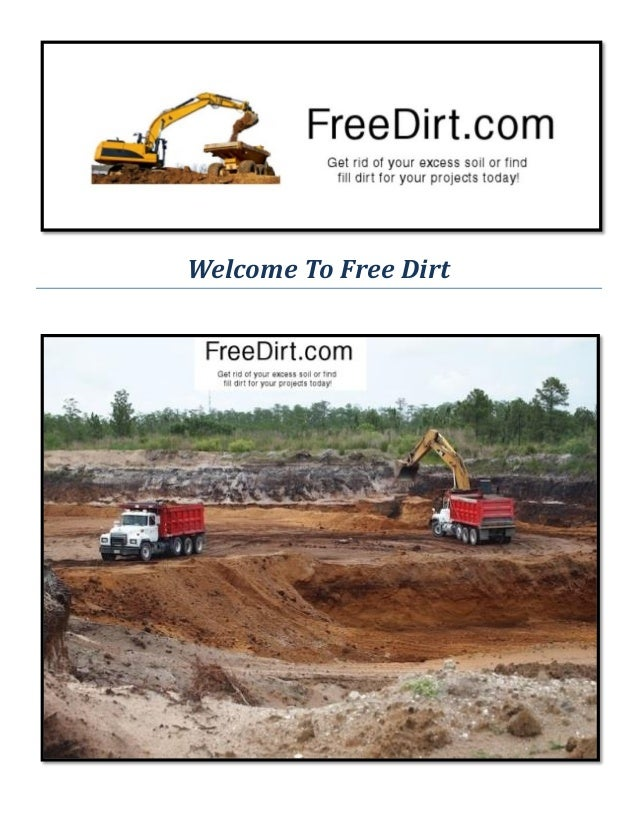 Free Dirt : Fill Dirt For Sale