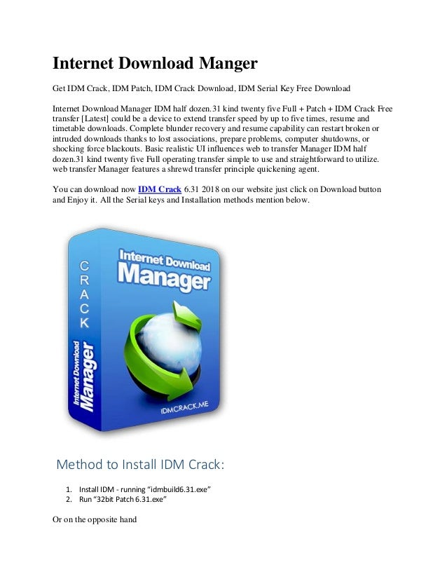 free download internet download manager crack serial key