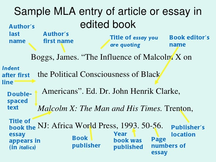 mla citation write-up through edited book