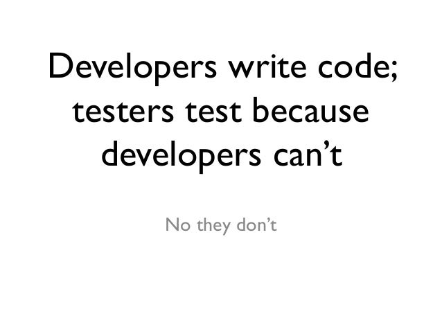 A New Model For Testing