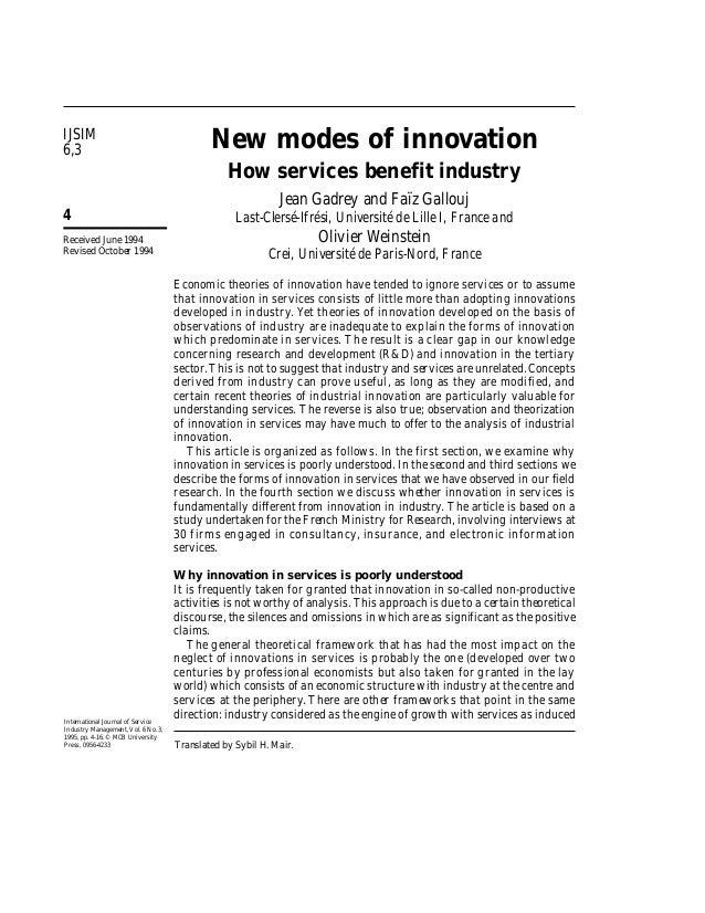 IJSIM6,3                                          New modes of innovation                                                 ...
